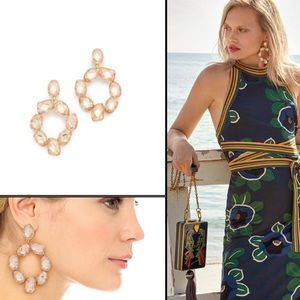 Tory Burch Stone Abstract Wreath Earrings